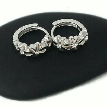 Mother's Day Gift,Mother Of the Bride Gift,Wife Gift,Bridesmaid Gift,Hoop Earrings,Flower Earrings,Sterling Silver Earrings,Daughter Gift