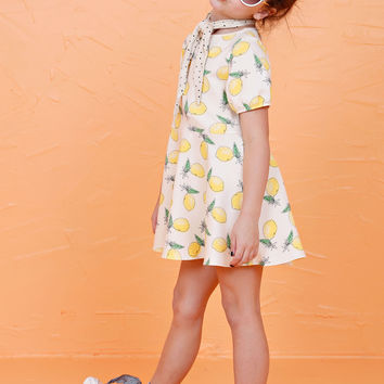 LIL' LEMONS | Buttercup Knit Dress - Lemon