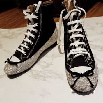 Marco de Vincenzo Diamond Converse Canvas High-Top Shoe