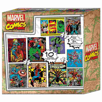 Marvel Comics 10-in-1 Puzzle Set