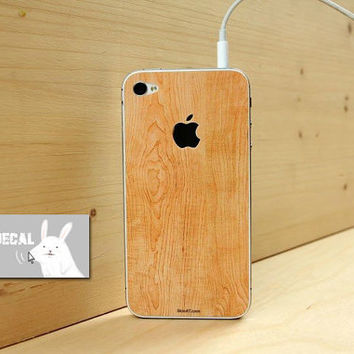 Wood sticker iPhone 4s Decal iphone 4 Stickers iPhone 5 iPhone5s Decals Apple Decal iPhone 4 Simulation sticker