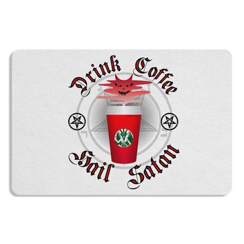 Red Cup Drink Coffee Hail Satan Placemat by TooLoud