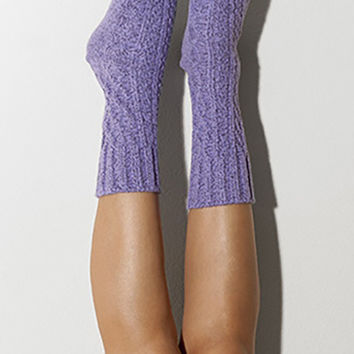 Orchid Marled Cable Knit Crew Socks