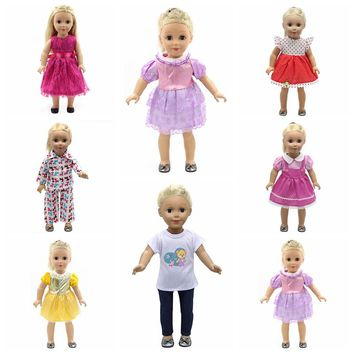 18 inch Doll Clothes and Accessories 15 Styles Princess Skirt Dress Swimsuit Suit for American Dolls Girl Best Gift  D3