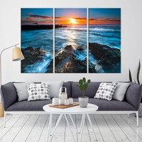 53792 - Extra Large Wall Art Beach Canvas Print - Sea and Ocean Seascape Wall Art Canvas Print