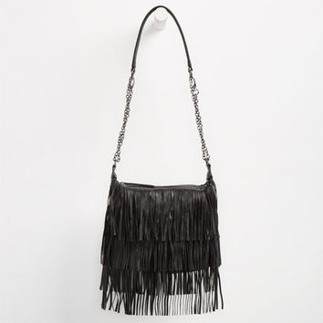 Madden Girl Fringe Crossbody Bag Black One Size For Women 25049910001