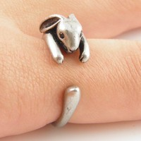 Silver Bunny - Animal Wrap Ring