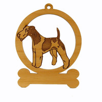 Fox Terrier Wire Ornament 083197 Personalized With Your Dog's Name