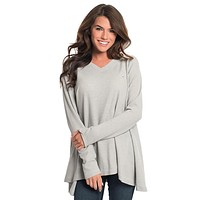Waffle Knit V-Neck in High Rise by The Southern Shirt Co. - FINAL SALE