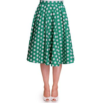 Hell Bunny 50's Dots Love Polka Dot Mariam Circle Swing Skirt