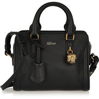 Alexander McQueen - Padlock mini textured-leather shoulder bag