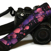 Camera Strap. Bubbles, Balls Camera Straps. DSLR SLR Camera Strap. Purple Pink Camera Strap. Camera Strap. Camera Accessories