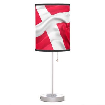 Danish Flag Desk Lamp