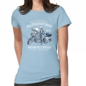 'MOTORCYCLE OFFICER' T-Shirt by Super3