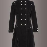 Witchy Woman Black Velvet Coat
