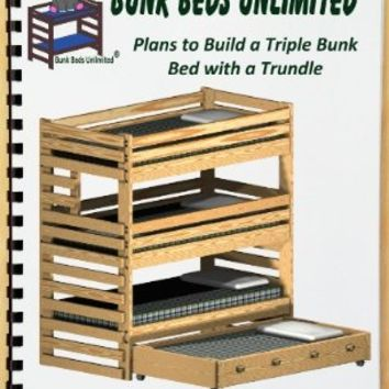 triple bunk plan not a bed to build from amazon things i want. Black Bedroom Furniture Sets. Home Design Ideas