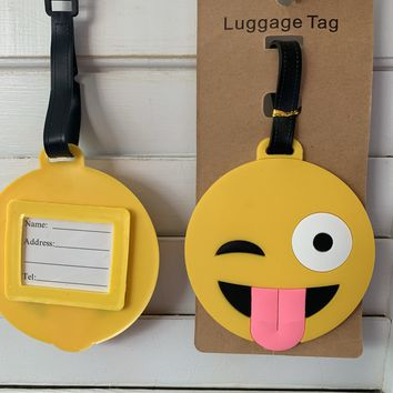 Silly Emoji Luggage Tag