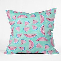 Lisa Argyropoulos Summertime In Aqua Throw Pillow