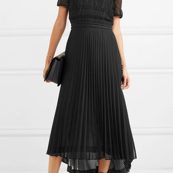Loewe - Layered polka-dot chiffon maxi dress