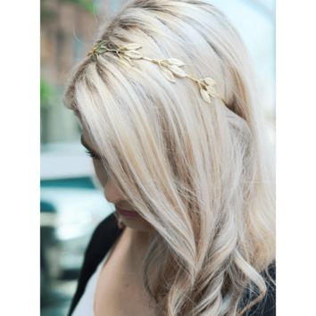 Gold Boho Leaf Headband