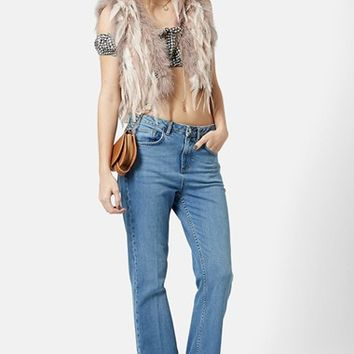 Women's Topshop 'Ritchie' Genuine Feather Vest