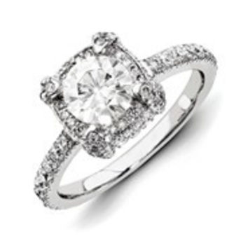 14k White Gold Diamond/Moissanite Engagement Ring