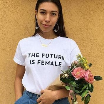 ONETOW Fashion Trend t-shirt_THE FUTURE IS FEMALE [10240511373]