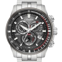 Citizen Eco-Drive Stainless Steel Chronograph Watch AT4129-57H