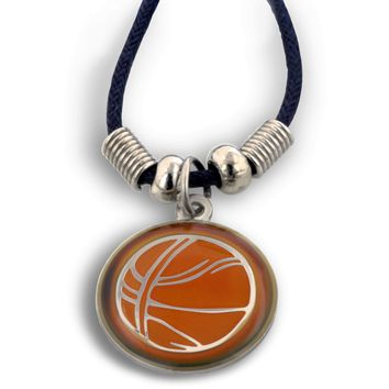 Phil 4:13 Basketball Mood Necklace