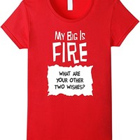 Taco Sauce Packet Big Sis is Fire Big/Little Week T-Shirt