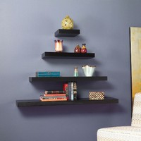 Chicago Floating Shelf Collection - Espresso
