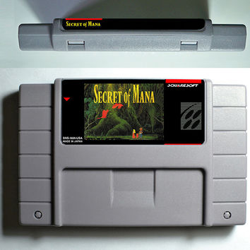 SFC/SNES Secret of Mana 1 - 2 - RPG Game Cartridge Battery Save USA Version