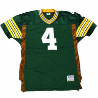 Vintage 1995 Authentic Starter Green Bay Packers #4 Brett Favre NFL Jersey Mens Size 46