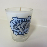 North Carolina Tar Heels Soy Shot Glass Candle - CHOICE OF SCENT