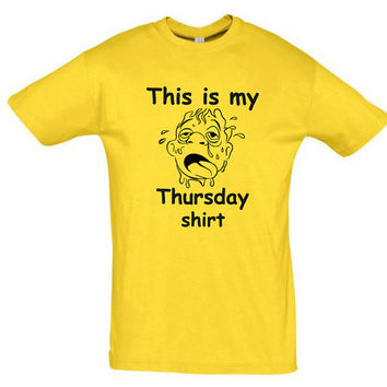 This is my thursday shirt,gift ideas,summer shirt,christmas gift,birthday gift,personalized shirt,gift for husband,gift for wife,funny shirt