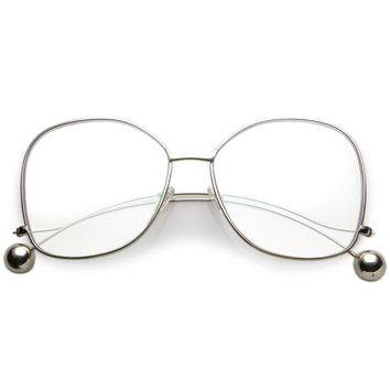 Retro 1970's Fashion Oversize Butterfly Clear Lens Glasses C214