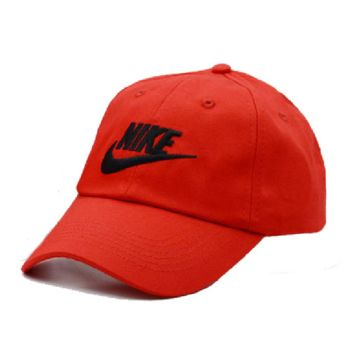 Red Embroidered 100% Cotton Adjustable Cap