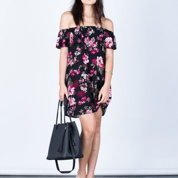 Rosey Pink Floral Dress