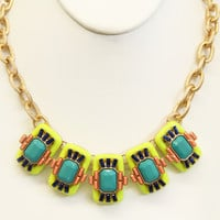 Lime Domino Effect Necklace