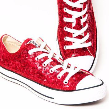 Select Your Color of Starlight Sequin Name Brand Canvas Low Tops