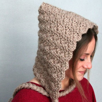 Crochet Pixie Hood - Hoodie Hat - Hooded Cowl : Available in 6 Colors