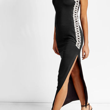 Embellished Cotton Blend Maxi Dress - Balmain | WOMEN | US STYLEBOP.COM