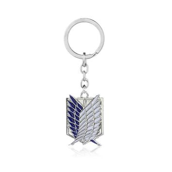 Cool Attack on Titan 10pcs/lot Hot Sellong Anime  Key  chains  Lehion Flag Cosplay Staterment jewelry  Key chains AT_90_11