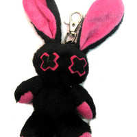Luv Bunny Key Chain Doll Pink | Gothic Clothing | Emo clothing | Alternative clothing | Punk clothing - Chaotic Clothing