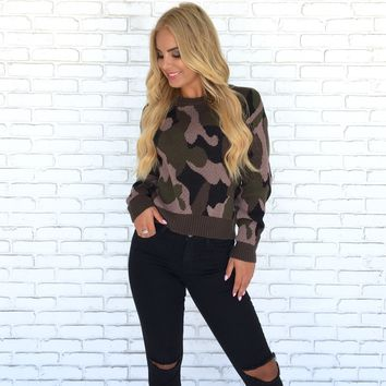 Elsie Camo Sweater