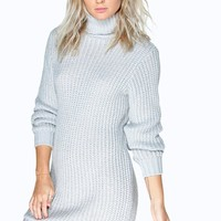 Maisie Roll Neck Soft Knit Jumper Dress