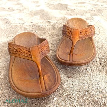 brown shaka™ - pali hawaii thongs