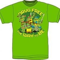 ROCKWORLDEAST - Teenage Mutant Ninja Turtles, T-Shirt, Drug Free The Way To Be