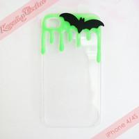 MADE TO ORDER Creepy Cute Bat Decoden iPhone 4 4S 5 Phone Case