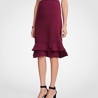 Ruffle Pencil Skirt | Ann Taylor